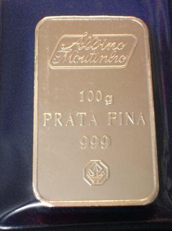 BARRA PRATA FINA - 100 gramas