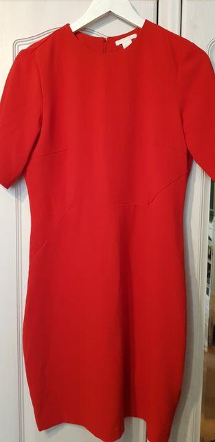 Czerwona sukienka h& m roz 42