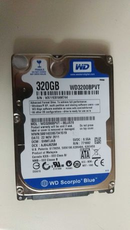 Жесткий диск для ноутбука WD Blue 320GB WD3200BPVT 2.5