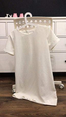 Sukienka biała mango m elegancka casual 38