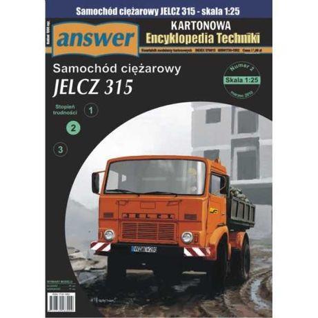 model kartonowy wydawnictwa Answer - wywrotka Jelcz 315