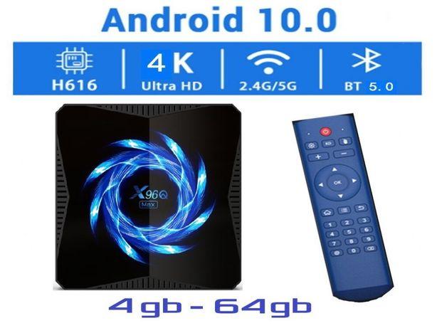 X96Q MAX 4гб 64гб Андроид 10 Смарт ТВ приставка с настройками 2020 год