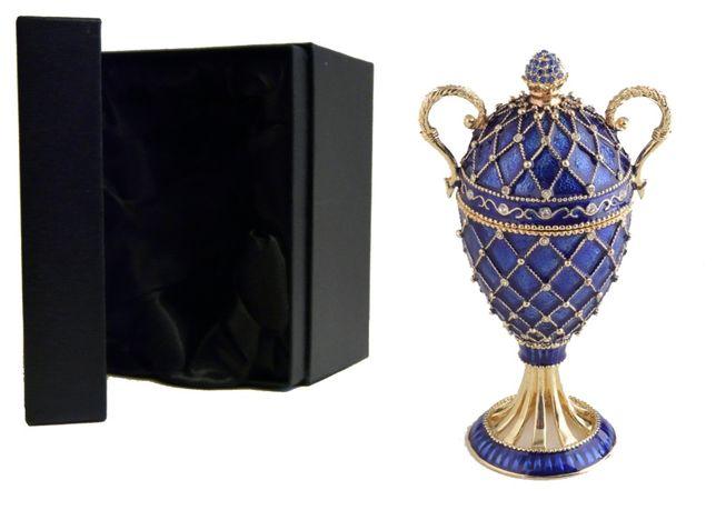 Carskie Jajko Faberge puzderko szkatułka Keren Kopal na Dzień Kobiet