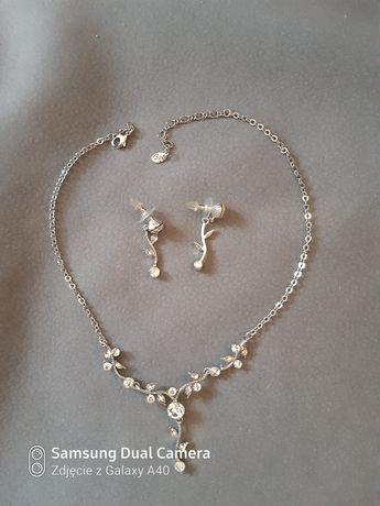 Nowy komplet biżuterii kolczyki naszyjnik prezent święta sylwester
