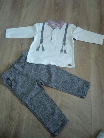 Strój elegancki zestaw spodnie bluzka 80 86 cocodrillo