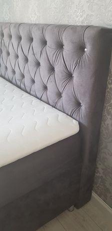 Łóżko kontynentalne 180×200 glamour