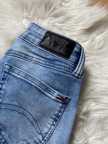 tommy hilfiger spodnie jeansowe skinny xs