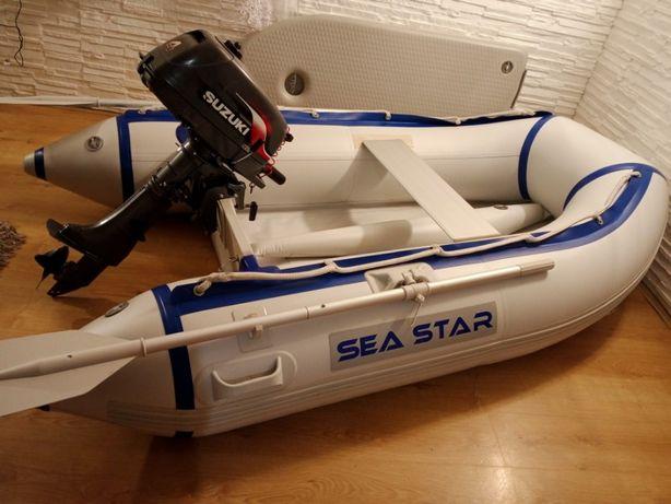 Sprzedam ponton Sea Star 2,6 m z silnikiem suzuki 4 kw