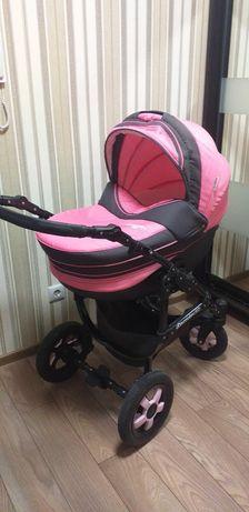 Детская коляска(каляска) 2 в 1 Angelina Discovery розовая 006