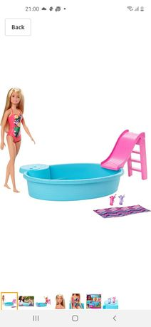Игровой набор кукла барби з басейном Barbie Doll and Pool Playset