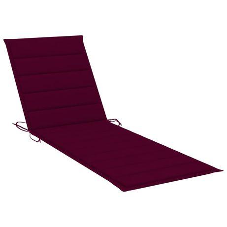 vidaXL Almofadão para espreguiçadeira 200x60x4cm tecido vermelho tinto 314212