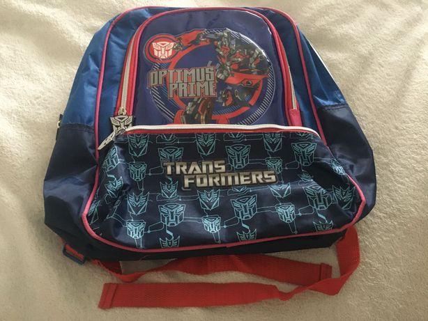Plecak szkolny 35x38 tornister niebiesko czerwony