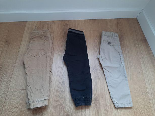 3 pary spodni materiałowych r.86-92