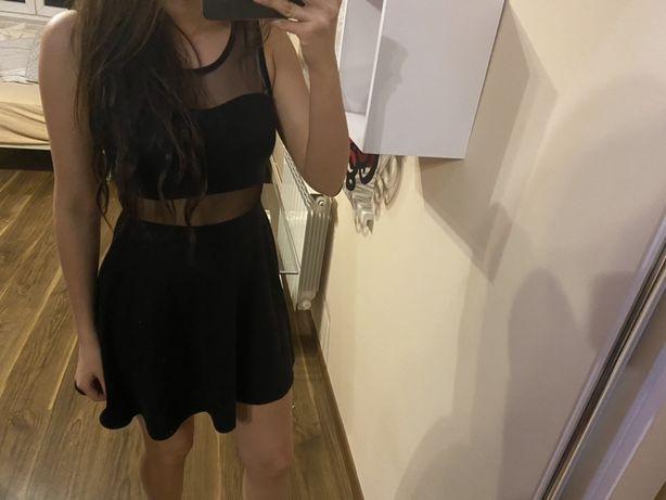 Sukienka czarna rozkloszowana czarna rozmiar S M