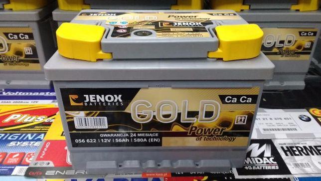 Akumulator Jenox Gold 56Ah 580A Kraków Azory Dowóz Montaż Diagnostyka