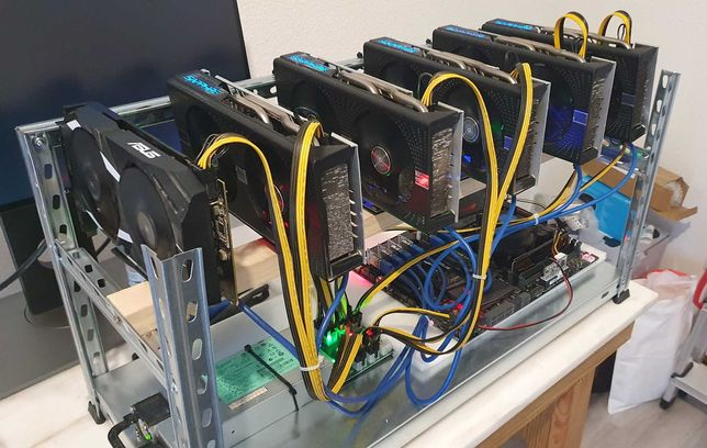 Mining Rig   6x RX570/580 8GB   190Mh/s Ethereum