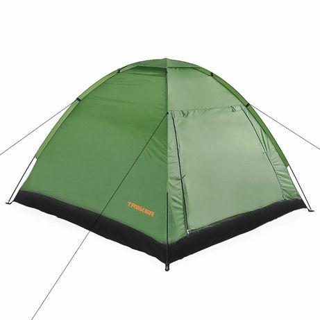 Палатка трехместная Трекер МАТ 107 кемпенговая, намет. Новая!
