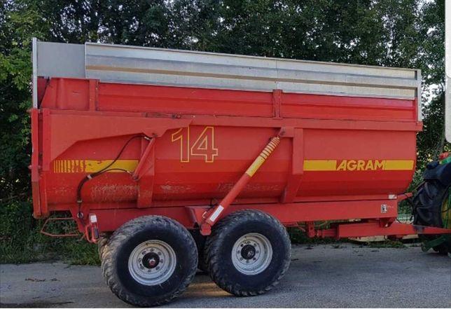 Przyczepa rolnicza skorupowa Agram 14 t metaltech Brimont