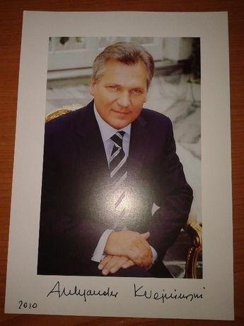 Autograf Aleksander Kwaśniewski