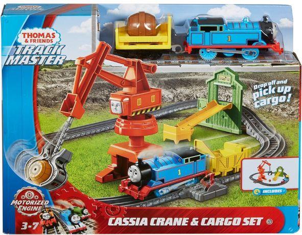 Fisher-Price Thomas железная дорога с краном Кассия Паровозик Томас