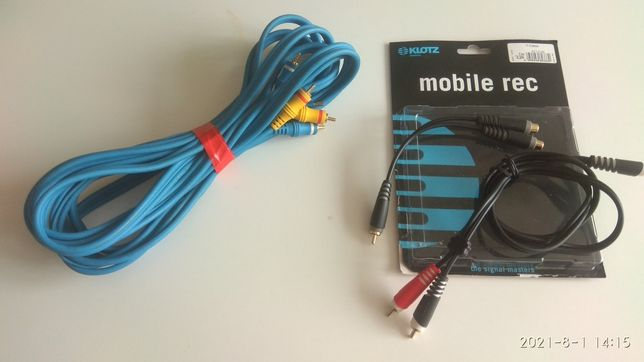 kabel  2 RCA OEHLBACH 5 M. ze struną car audio home hi-end