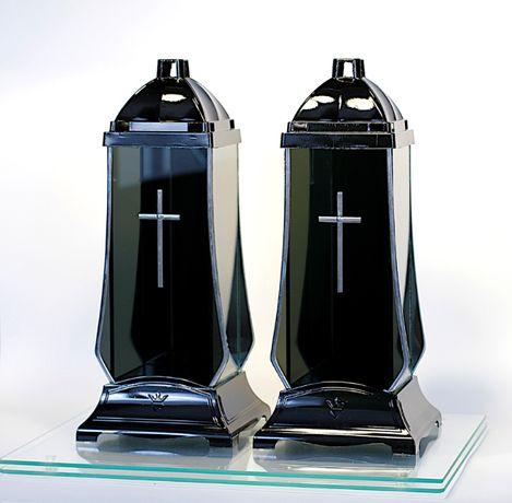Znicz Lampion szklany black mirror art lustro nowośc 2020