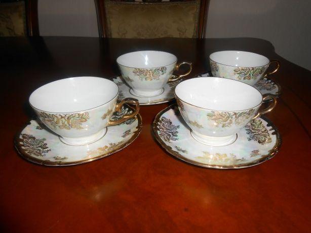 Чайная пара тонкого фарфора Германия чашка кружка блюдцем много золота