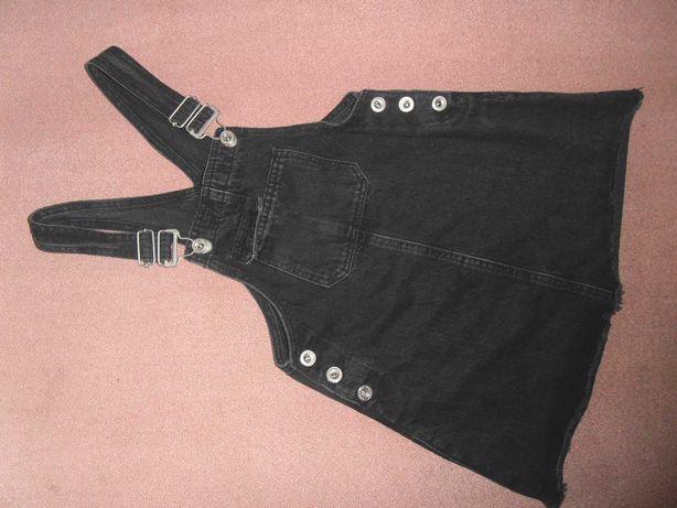 Черный сарафан школьная форма для 1-2 класса фирмы Zara