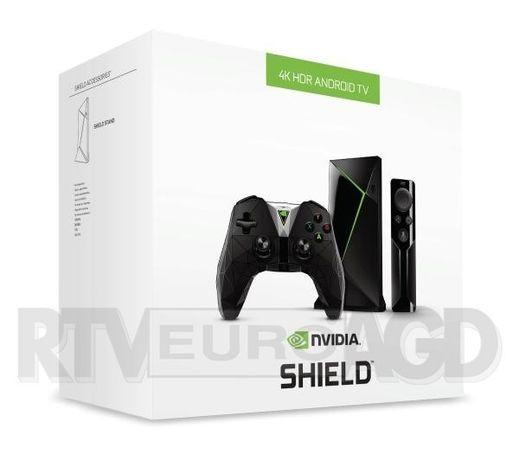 Nvidia Shield TV 4K HDR + kontroler+ pilot, jak nowa