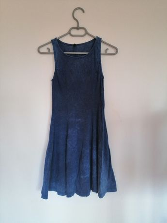 Sukienka Rozkloszowana ala Jeans Denim CO S/36