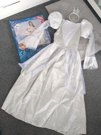 Strój karnawałowy księżniczka piękna suknia 10-12 lat