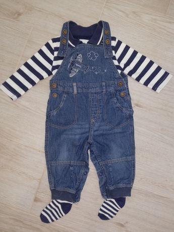 Костюм комбинезон джинсовый топ носочки George Next Carters 6-9мес