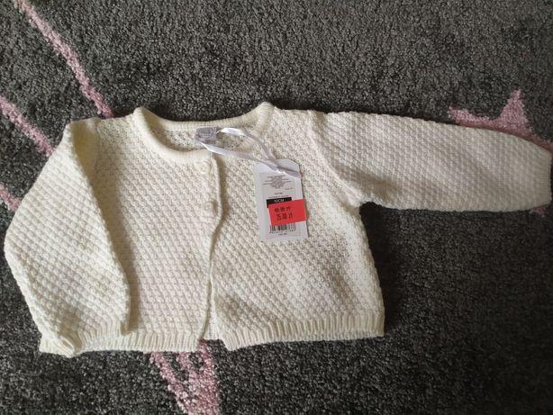 Sweterek / bolerko rozmiar 62 kolor ecru CHRZEST