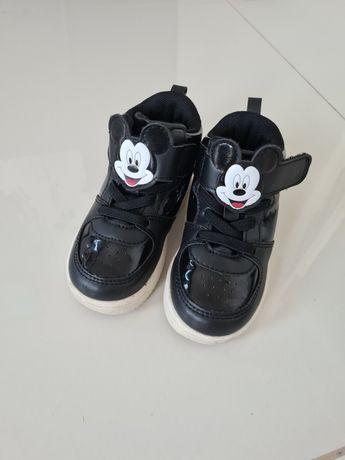 Buty buciki adidasy miki hm mickey czarne wysokie trzewiki czarne