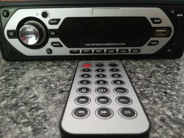 Auto Radio USB/MP3 com comando distancia (por reparar)