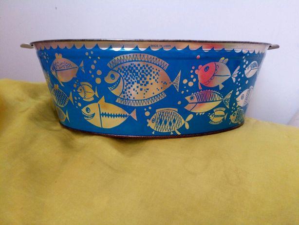 Винтажный тазик с рыбками ссср прибалтика