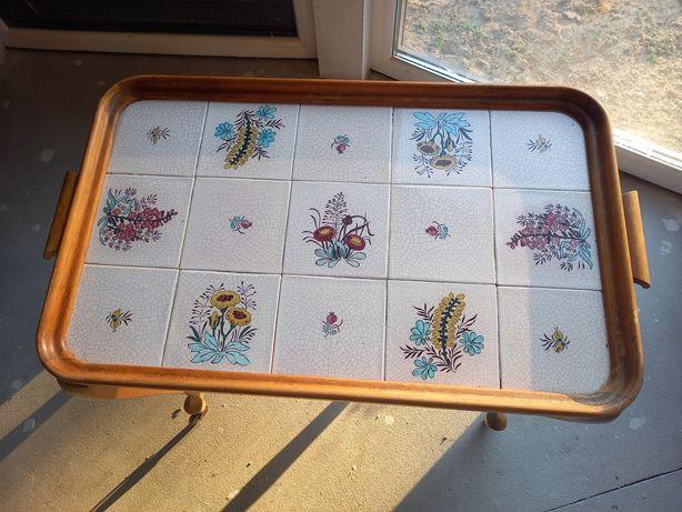 Barek-stolik na kółkach chippendale