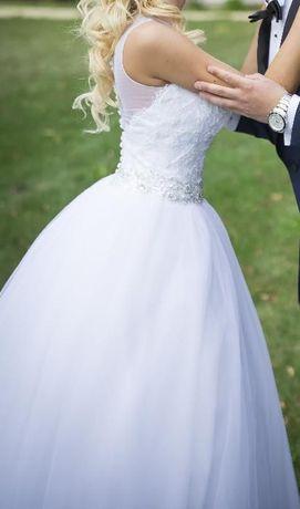 Pilnie sprzedam. Suknia ślubna princessa! Piękna 34