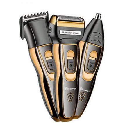 Мужской триммер бритва аккумуляторная для стрижки волос и бороды ProGe