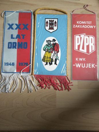 Proporczyki PRL vintage