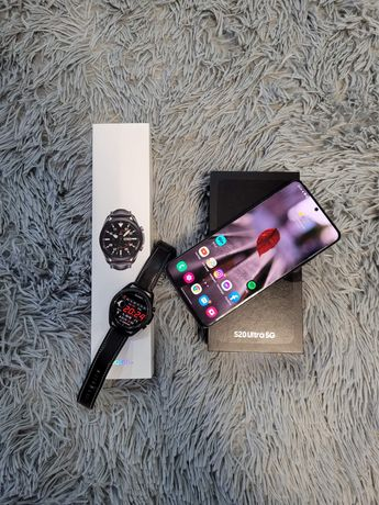 Samsung galaxy s20 Ultra wraz z galaxy watch 3 45mm