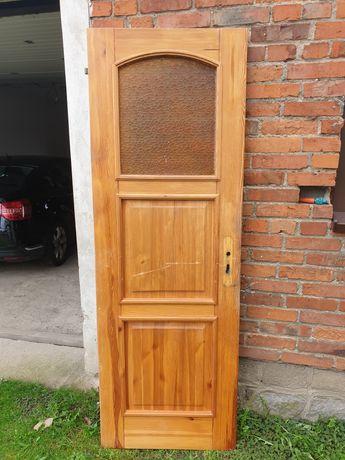 Drzwi drewniane sosnowe
