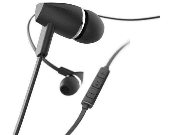 """Słuchawki douszne z mikrofonem Hama """"Joy"""" czerwony czarny niebieski"""