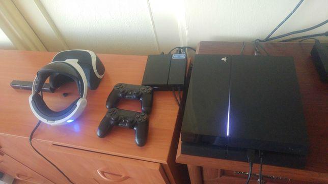 Ps 4 Playstation 4 fat 500 gb Zestaw Okulary vr kamera 2 pady