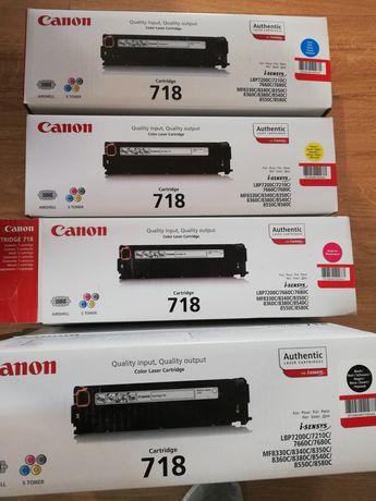 Tonery Canon 718 kolor czarny, cyjan niebieski, magenta różowy, żółty