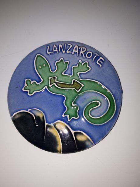 Ceramiczna podkładka z wakacji Lanzarote
