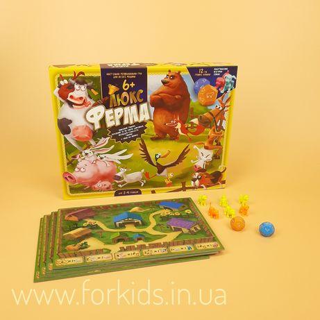 Детская настольная игра «Ферма Люкс» Danko Toys от 6 лет
