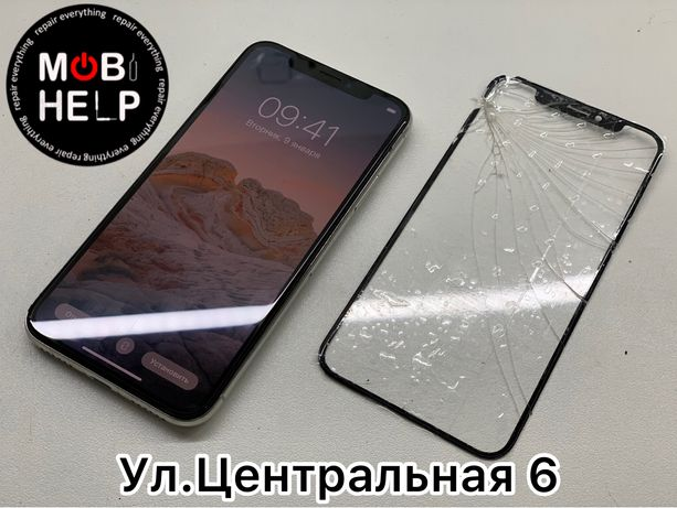 Замена стекла дисплея экрана iPhone Apple Watch 5 6 se Samsung Xiaomi
