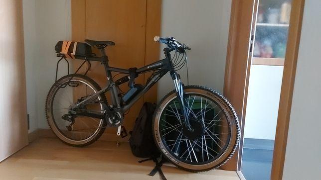 Bicicleta eletrica motor frontal 500W bicicleta