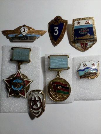 Значки. ВМФ. ВВС. Космос.